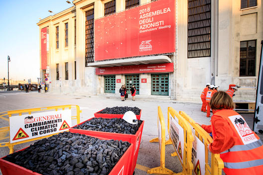 Coal Action at Generali Annual Meeting in Trieste