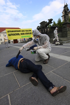 Austrian Activists Protest Italian Nuclear Program