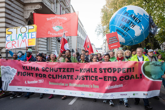 Climate March at the UN Climate Conference COP23 in Bonn