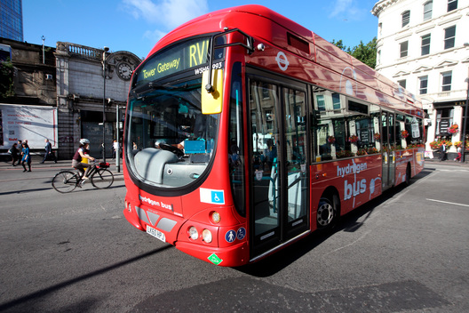 Hydrogen Powered Bus in Central London