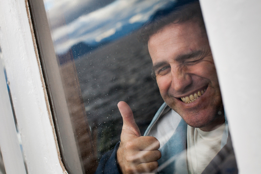 Miguel Hernan Perez Orsi on the Arctic Sunrise