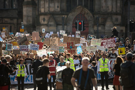 Global Climate Strike in Edinburgh