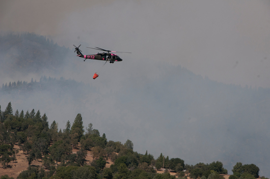 Firefighting Guard Battles Rim Forest Fire in California