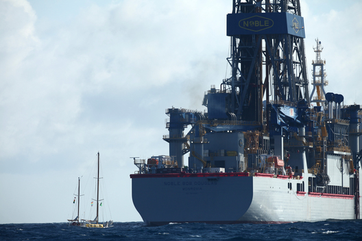 'Oil Free Seas' Flotilla at Tasman Sea Drill Site