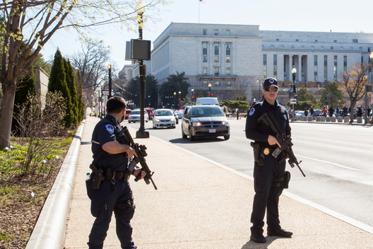 A Woman Rams into Police on Capitol Hill in Washington D.C.