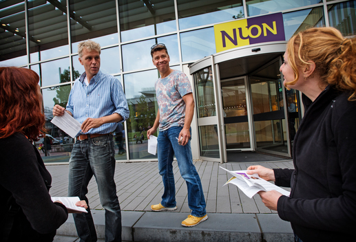 Action at NUON Headquarters in Amsterdam