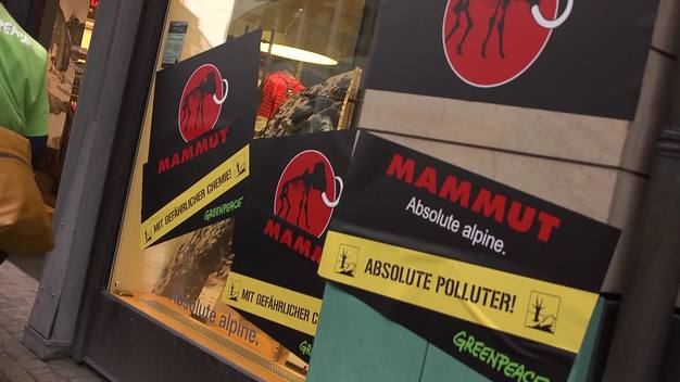 Detox Protest at Mammut Store in Hamburg - News Access