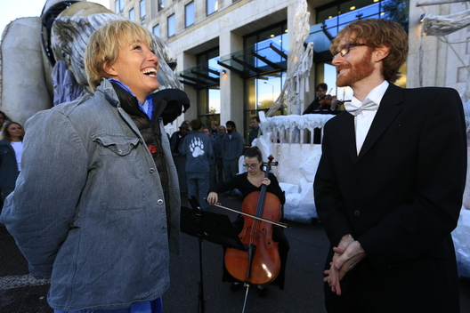 Emma Thompson at Shell HQ Protest in London