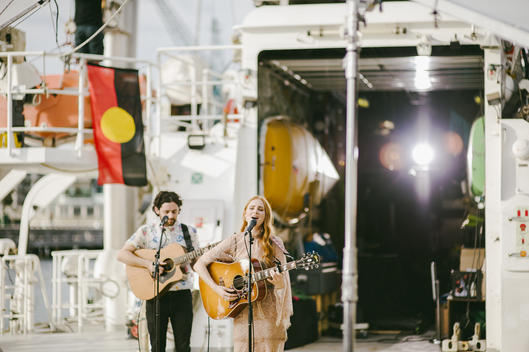 Vera Blue's Session on Rainbow Warrior in Sydney