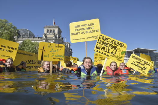 Greenpeace Youth Swim for Climate Protection in Berlin