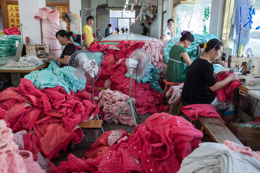 Workers at a Textile Factory in China
