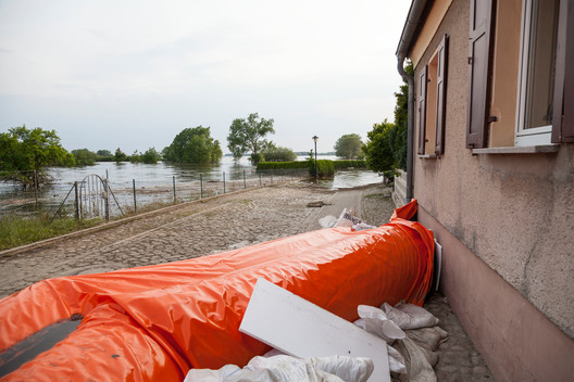 River Elbe Flooding in Jerichow