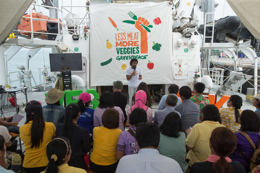 VEG Talks on Board the Rainbow Warrior in Phuket