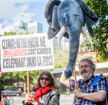 Protest against Canada's Environment Ministers in Montreal