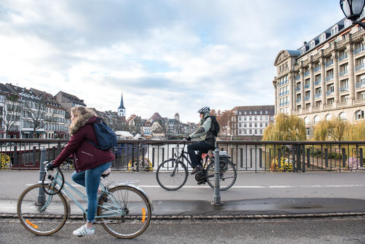 Clean Air Now campaign illustrated in Strasbourg, France