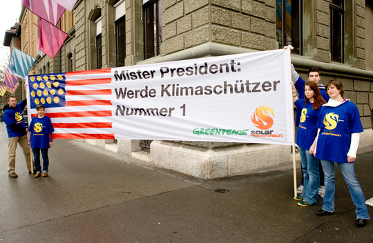 Climate Protest at US Embassy in Bern