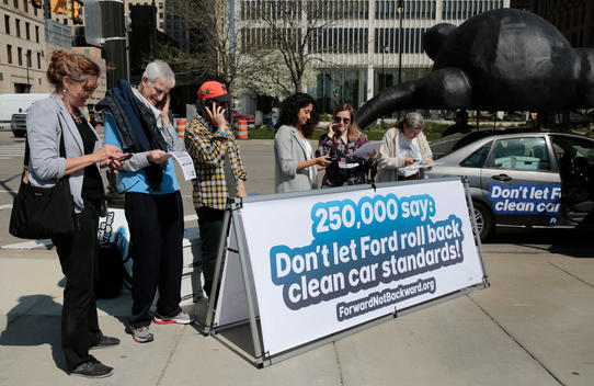 Ford Petition Delivery in Detroit