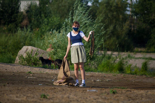 Clean Up and Waste Audit in Volgograd, Russia
