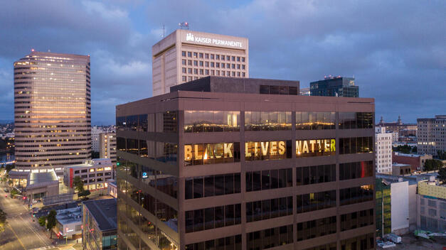 Black Lives Matter Message in Oakland Office