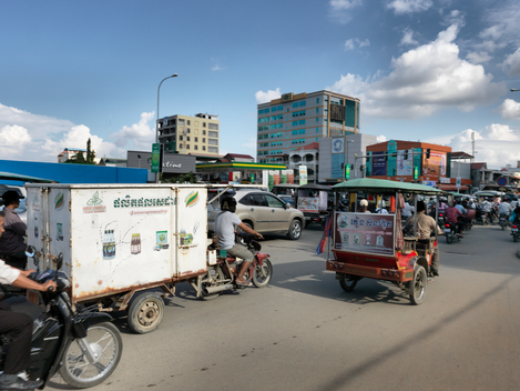 Ecological Produce being Delivered in Cambodia