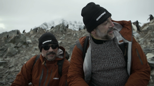 Actor Javier Bardem and his brother Carlos Bardem visit Spigot Peak, (social media video English and Spanish)