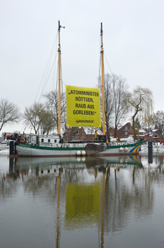 Banner against Nuclear Storage in Germany