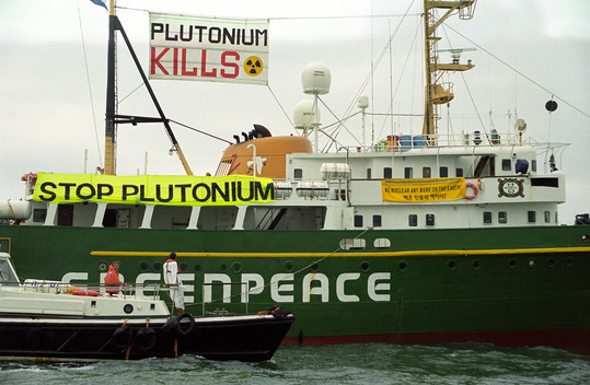 Action against Nuclear Freighter Pacific Teal in Barrow