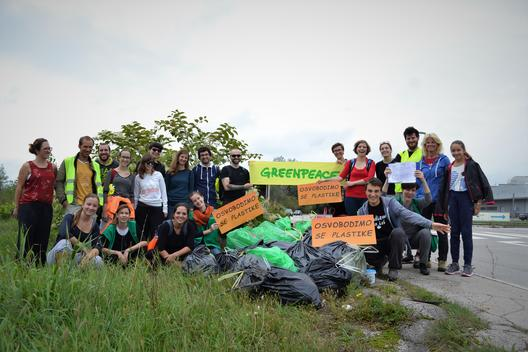 Plastic Clean Up and Brand Audit Activity in Slovenia