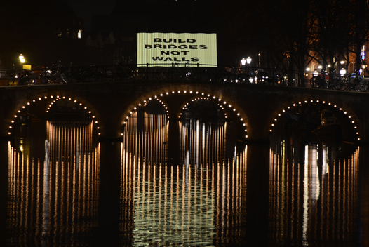 Bridges Not Walls Action in Amsterdam