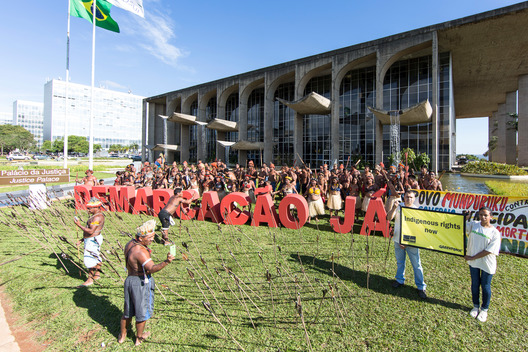 Demarcation Demand for Munduruku Protest in Brasilia