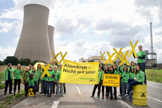 Protest at Nuclear Power Plant Grohnde