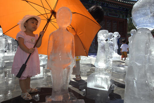 Climate Action with Ice Sculptures in China