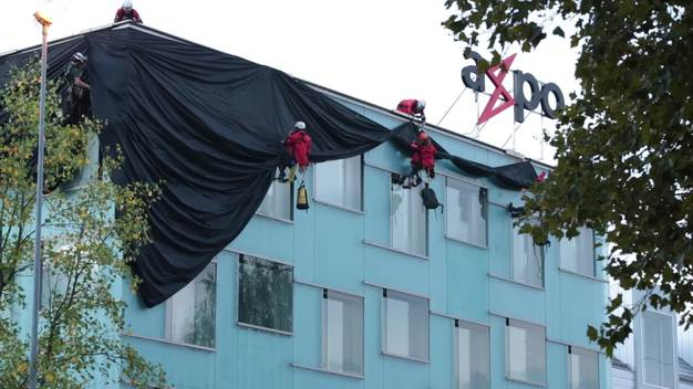 B-ROLL: Axpo Headquarters Wrapped up in Baden