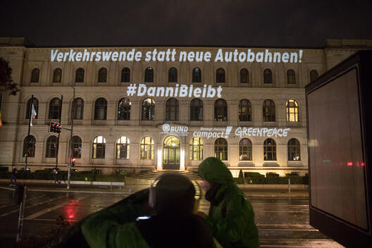 Projection at the Ministry of Transport in Berlin