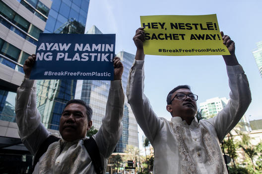Activists March at Nestle HQ in the Philippines