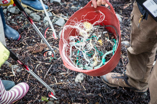 Kilninian Beach Clean-up Activity on Mull Island in Scotland