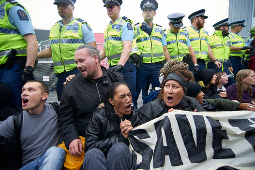Oil Conference Blockade in New Zealand