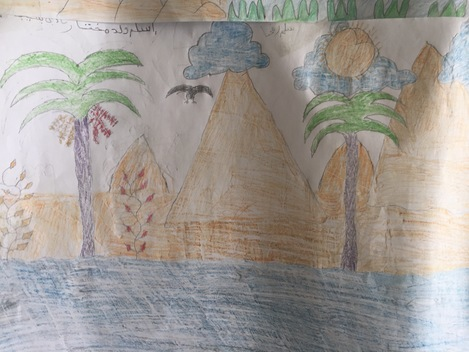 Children's Drawings on Esperanza's Open Boat in Nouakchott