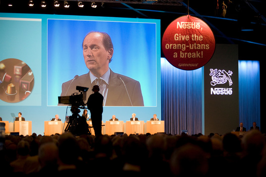 Forest Action at Nestlé AGM in Switzerland