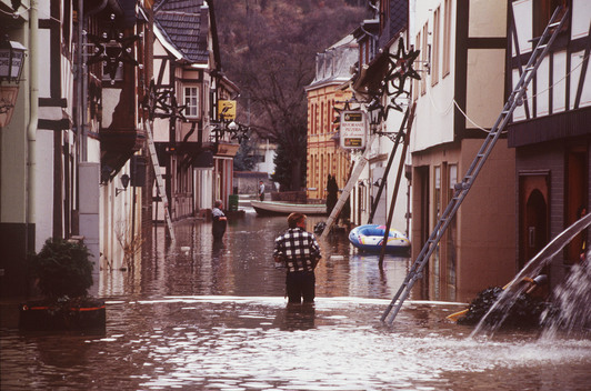 Flooding of the River Rhine