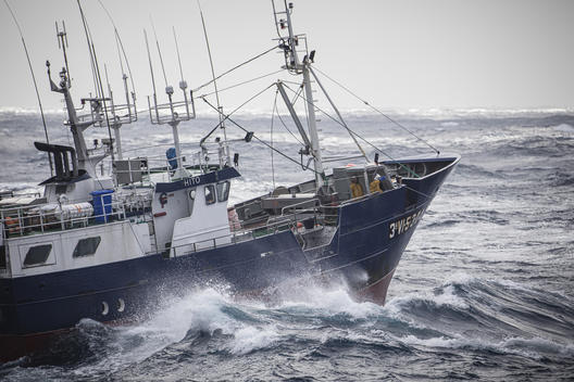 Longliner Fishing Vessel off the Spanish Coast