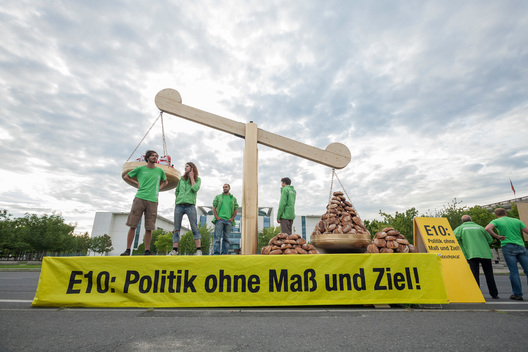 Biofuel Action at Chancellery in Berlin