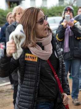 Greenpeace Executive Director Annie Leonard at Women's March in Washington D.C.