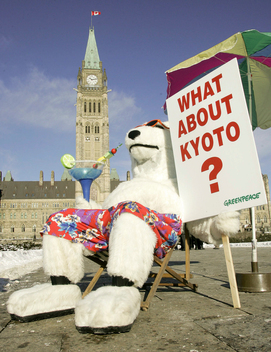 Greenpeace Polar Bear for Kyoto in Ottawa
