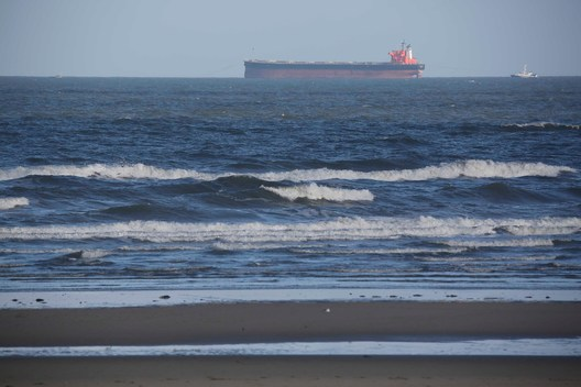 Freighter Stranded at the Wadden Sea in Germany