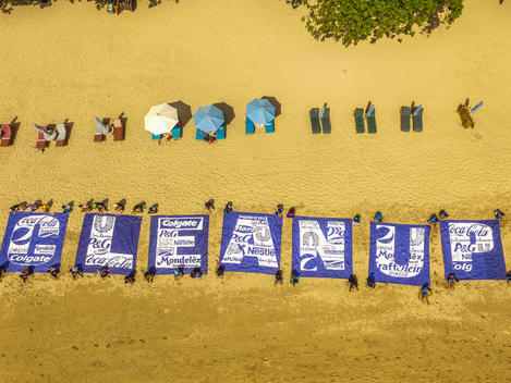 Break Free from Plastic Action in Bali (Drone)