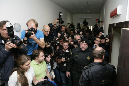 Media await Arctic 30 Detention Hearing in St. Petersburg