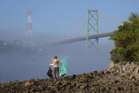 Clean Up and Polluter Brand Audit Activity in Halifax, Canada