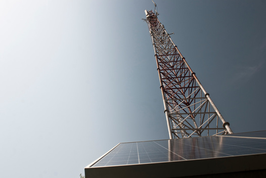 Solar Powered Mobile Tower in India