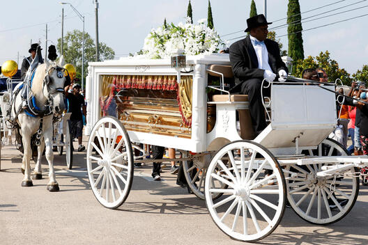 Funeral Procession for George Floyd in Pearland, Texas